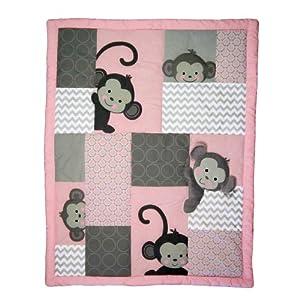Bedtime Originals 3 Piece Crib Bedding Set, Pinkie