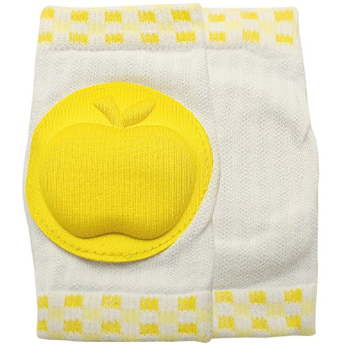 New Kid Baby Mesh Crawling Knee Pads Toddler Elbow Pads 805676 (Yellow)