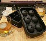 kitchenguru Silicone Ice Cube Trays - Combo Kit Makes Large Square AND Round Ice Balls - Impress your friends with the coolest of ice cubes that won't water down your drink!