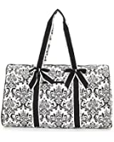 "Belvah Quilted Damask Large 21"" Duffle Bag"