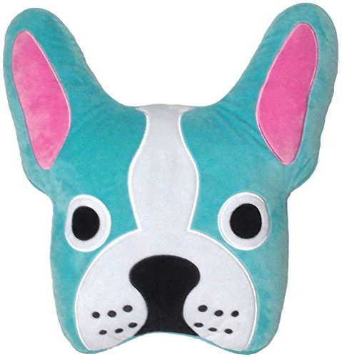 iscream French Bulldog Embroidered Fleece Microbead Pillow (Bulldog Blues compare prices)