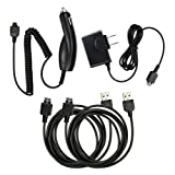 4 pc Fenzer Black Bundle Kit for LG cu515 Plum cu575 Trax cu720 Shine cu915 cu920 Vu Home Wall Travel Car Charger Data Sync USB Cable