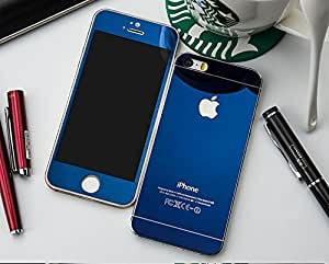 Phone care Iphone5 Blue Color Tempered Glass Front and Back