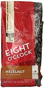 Eight O'Clock Hazelnut Whole Bean Coffee, 33-Ounce Bag