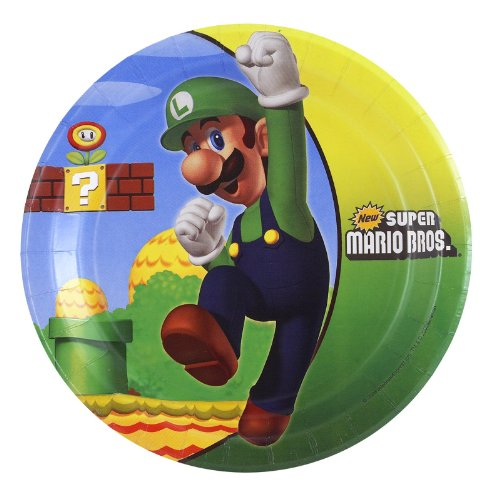 Lets Party By Party Destination Super Mario Bros. Dessert Plates - 1