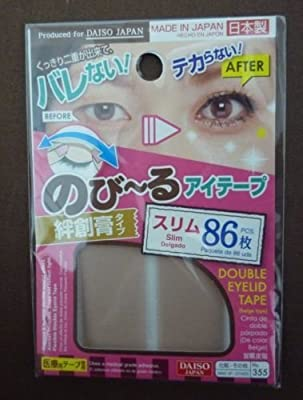 DAISO Natural Double Eyelid Nudy Tape Slim 86 pcs Bandage type