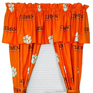 Buy Clemson Printed Curtain Panels 42 X 84 - Clemson Tigers by College Covers