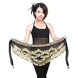 YiJee Costume Danse Orientale Paillettes Belly Dance Foulard