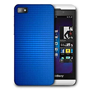 Snoogg Checks Blue Pattern Design Printed Protective Phone Back Case Cover For Blackberry Z10