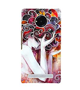 Wonderful Woman Painting 3D Hard Polycarbonate Designer Back Case Cover for YU Yuphoria YU5010