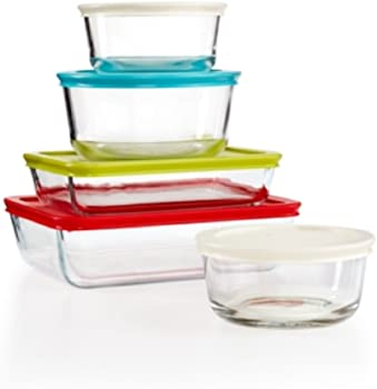 Pyrex 10-Piece Simply Store Set with Colored Lids
