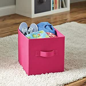 Better Homes And Gardens Collapsible Fabric Storage Cube Fuschia 2 Pack