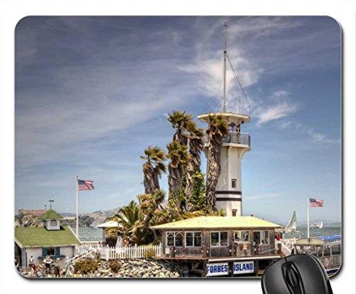 lighthouse-on-forbes-island-on-fishermans-wharf-san-francisco-mouse-pad-tapis-de-souris-ligh-thouses