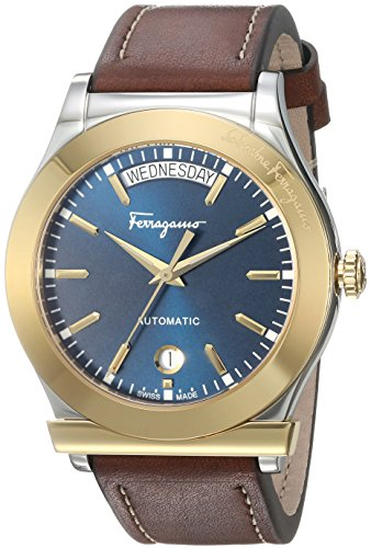 Salvatore-Ferragamo-Mens-1898-LE-Swiss-Quartz-Stainless-Steel-and-Leather-Casual-Watch-ColorBrown-Model-FFQ020016