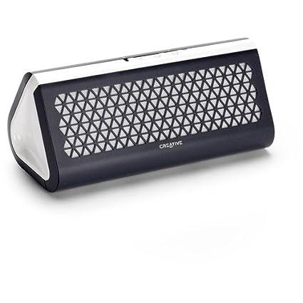 Creative Airwave Portable Wireless Bluetooth Speaker with NFC (Black & White)