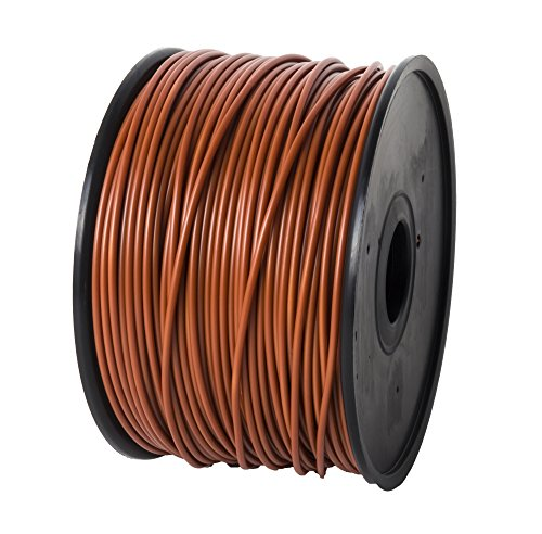 JET PLA 3.00mm, 1.3kg, 2.8lbs Chocolate Filament Printing Material Supply Spool - Dimensional Accuracy +/- 0.02mm