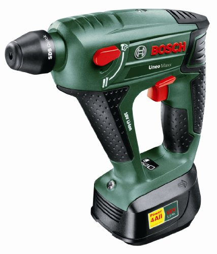 Bosch Uneo Maxx 18-Volt 3-in-1 Cordless Li-Ion SDS Hammer and Drill/Driver