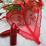 Lilone Gifts - Panty In A Lipstick - Love Valentine Anniversary Naughty Gift- Dating Mystery Gift (Free Size) | Gift For Girlfriend, Gift For Women, Gift For Wife, Gift For Her