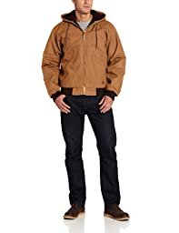Berne Men's Original Hooded Jacket, Brown, XX-Large/Regular