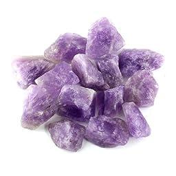 Crystal Allies Materials: 3lb Bulk Rough Amethyst Quartz Stones from Madagascar - Large 1\