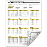 2016 Attendance Calendar