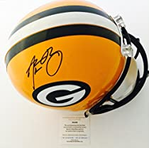 Packers Aaron Rodgers Signed Full Size Riddell Helmet LSC Authentic COA