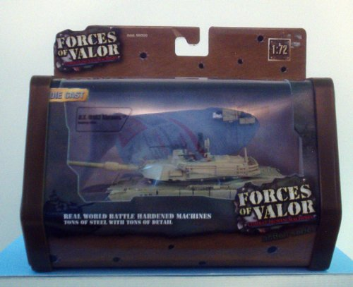Forces of Valor 1:72 Scale Die Cast Military Combat Proven Machines Battle Vehicle - U.S. M1A2 Abrams - Well Armed, Heavily Armored, and Highly Mobile Tank Used in Baghdad 2003