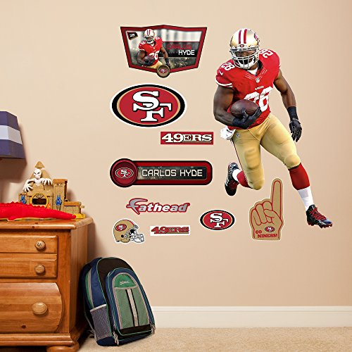 Nfl San Francisco 49ers Carlos Hyde Junior Wall Decal