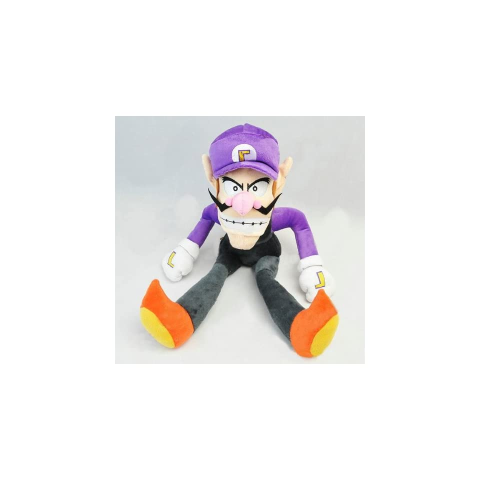 "Nintendo Super Mario Waluigi Plush Doll Around 30cm 12"" Toys & Games"