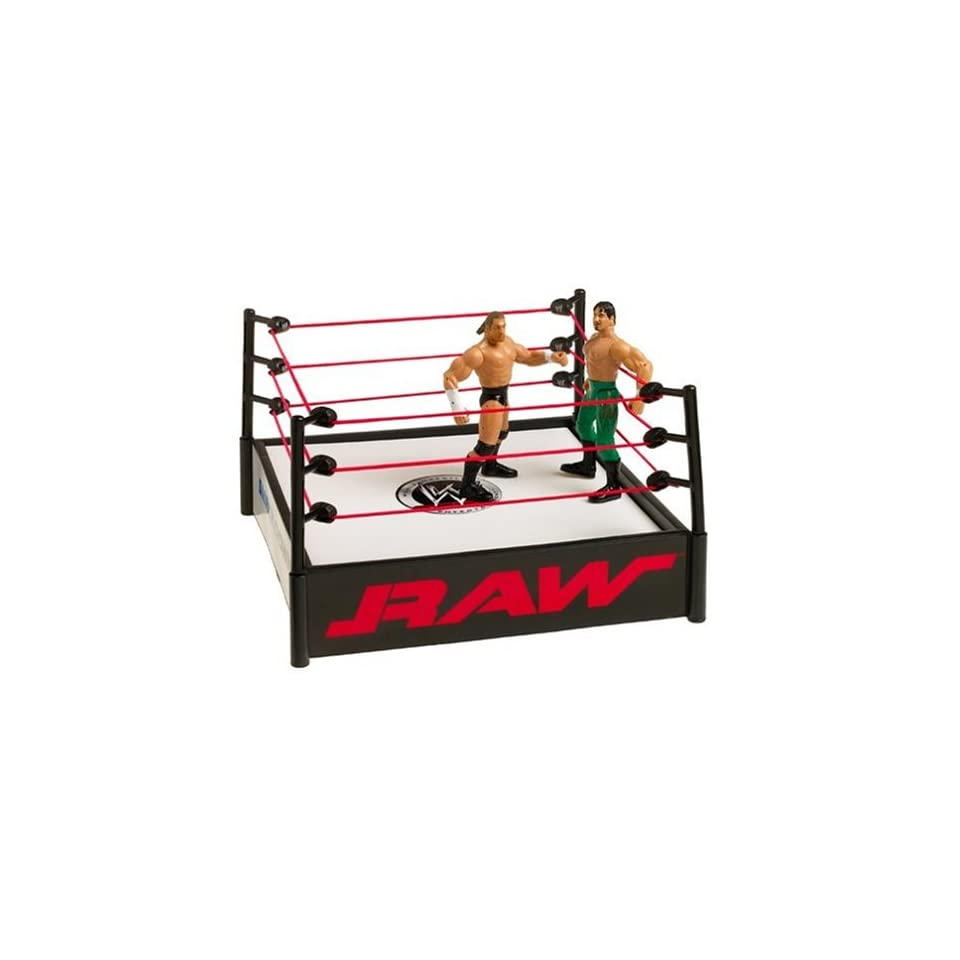 WWE Raw Stunt Action Ring with 2 Figures