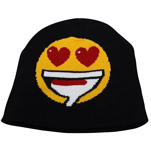 Unisex Emoji Beanie Hat – Emoticon Print Skull Cap