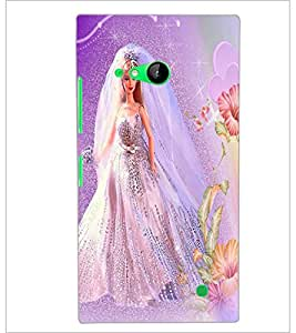 PrintDhaba Bride Barbie D-1115 Back Case Cover for NOKIA LUMIA 730 (Multi-Coloured)