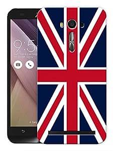 "Humor Gang British Flag Printed Designer Mobile Back Cover For ""Asus Zenfone 2"" (3D, Matte, Premium Quality Snap On Case)"