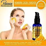 Newborn Skin Forever Aging Wrinkles Non-oily, Non-sticky, Paraben free - Hyaluronic Acid Matrixyl 3000 Vitamin C - 1 oz/30 ml