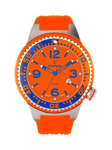Kienzle K2031159163-00263 - Orologio da polso uomo, silicone, colore: arancio