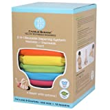 Charlie Banana 6 Reusable Diapers 12 Inserts Set Tutti Frutti, Small