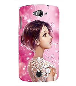Fuson Premium Gorgeous Girl Printed Hard Plastic Back Case Cover for Acer Liquid Z530S