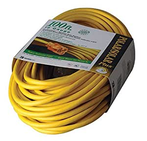 coleman cable 01289 100 foot all weather 16 3 extension cord with lighted end cold weather. Black Bedroom Furniture Sets. Home Design Ideas