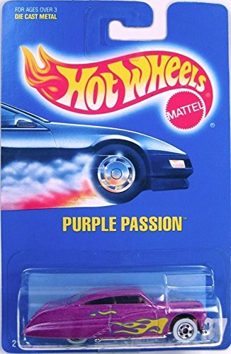 Mattel Hot Wheels 1991 1:64 Scale Purple Flamed Purple Passion Die Cast Car Collector #87 - 1
