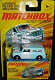 MATCHBOX LESNEY EDITION BLUE '65 AUSTIN MINI VAN POLICE WAGON