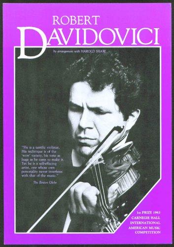 Violinist Robert Davidovici Hartford Ct Flyer 1987