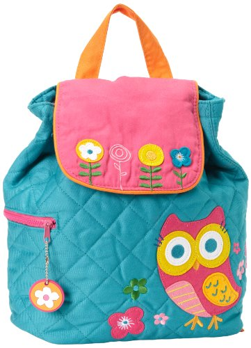 Stephen Joseph Little Girls' Quilted Backpack, Teal Owl, One Size