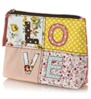 Love Patchwork Cosmetic Purse
