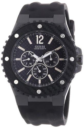 Guess - W11619G1 - Overdrive - Montre Homme - Quartz Analogique - Cadran  Noir - Bracelet 3e84c276444