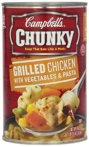 Campbell's Chunky Soup, Grilled Chicken with Vegetables & Pasta, 18.6 Ounce (Pack of 12) (Chicken Pasta Re compare prices)