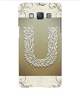 """ColourCraft Alphabet """"U"""" Design Back Case Cover for SAMSUNG GALAXY E5"""