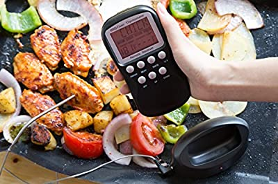Long Range Wireless BBQ Meat Thermometer Monitor BBQ / Smoker / Grill / Oven / Meat / Thermometer up to 482 °F and 100 Feet