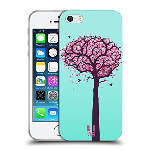 Head Case Designs Brain Blossoms Human Anatomy Soft Gel Back Case Cover for Apple iPhone 5 5s