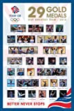 Poster London 2012 Olympics 29 Gold Medals plus Accessory Item multicoloured