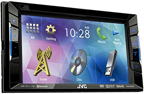 JVC KW-V220BT Autoradio DVD/CD/USB con Monitor 6.2'', Nero